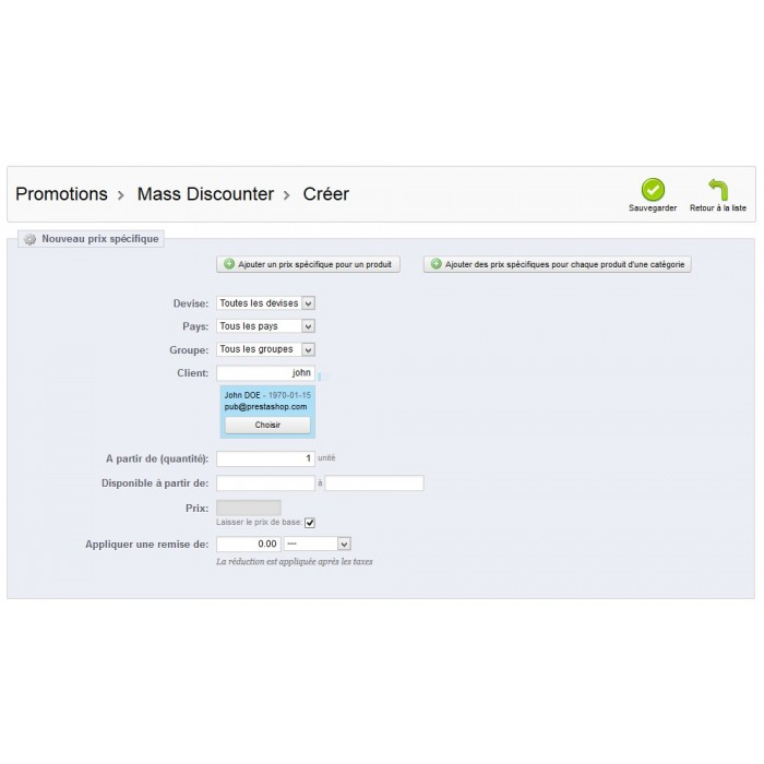 module - Promocje & Prezenty - Mass Discounter: Manage your promotions massively - 13
