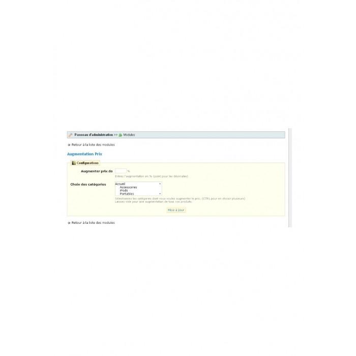 module - Szybkie & Masowe edytowanie - Augmentation Prix - 1