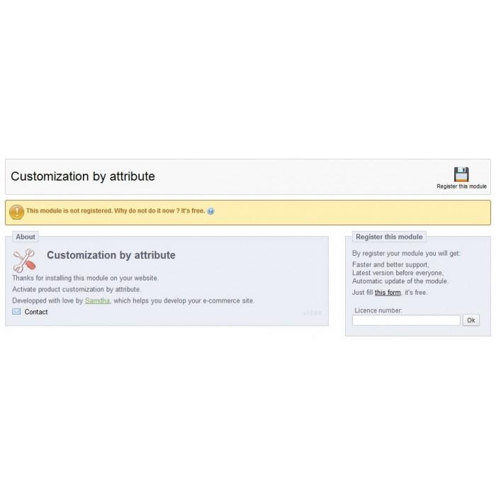 module - Combinations & Product Customization - Enable customization by combination - 3