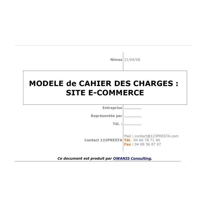 other - User Guide - Model specification for e-commerce site - 1