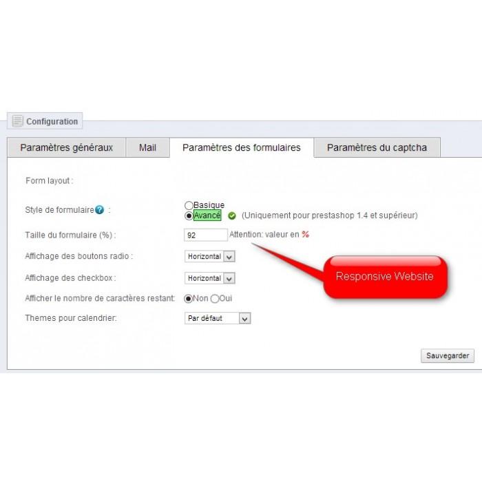 module - Formulaires de Contact & Sondages - ContactForm :  Formulaire de contact personnalisable - 5