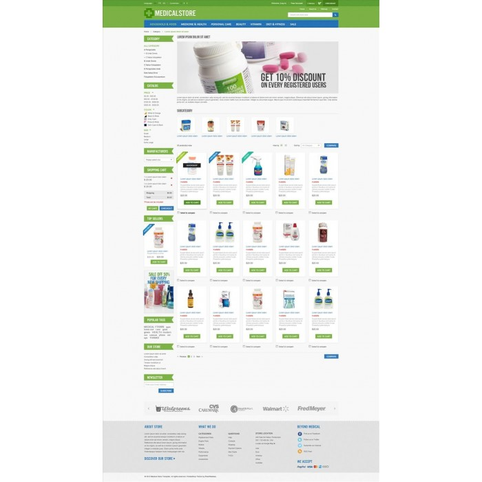 theme - Saúde & Beleza - Medical & Drug Store PrestaShop Theme - MedicalStore - 1