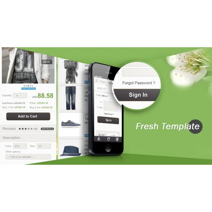 module - Dispositivos móviles - Kancart Freemium HTML5 Mobile & APP - 4