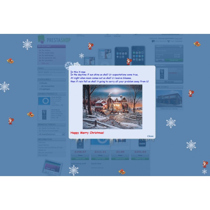 module - Personnalisation de Page - Christmas flakes + New Year - 4