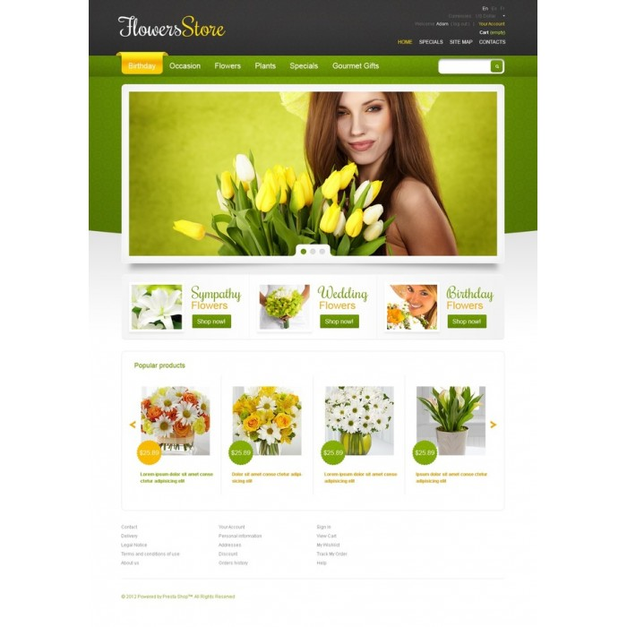 theme - Gifts, Flowers & Celebrations - Spring Bouquet - 3