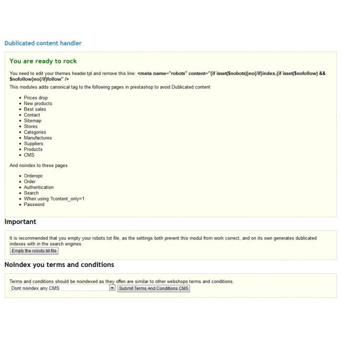 module - SEO - Duplicate Content handler - 2