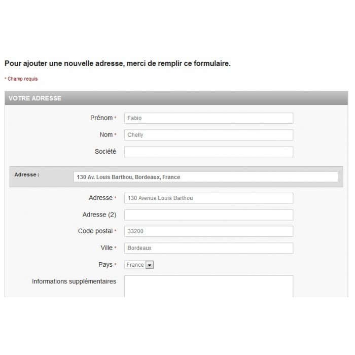 module - Registration & Ordering Process - Perfect Address - 2