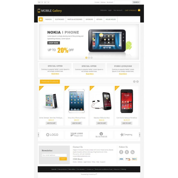 theme - Eletrônicos & High Tech - Mobile Gallery Prestashop Theme - PRS060139 - 2