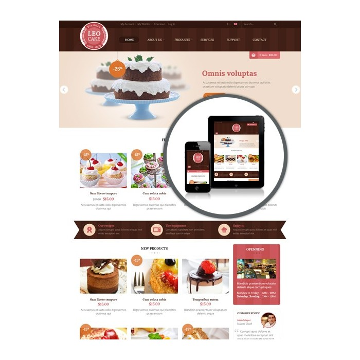 theme - Lebensmittel & Restaurants - Leo Cake - 1