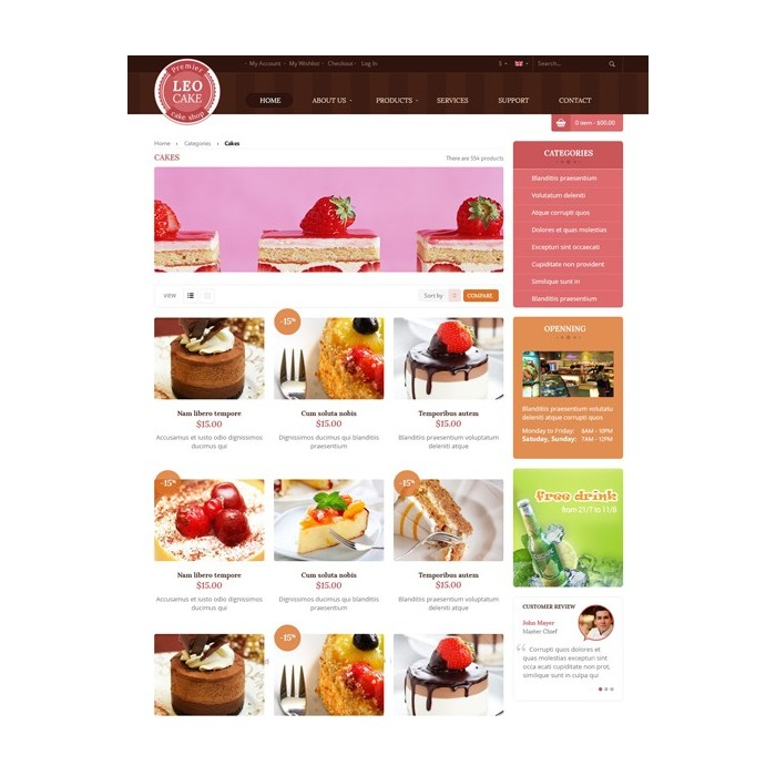 theme - Lebensmittel & Restaurants - Leo Cake - 5