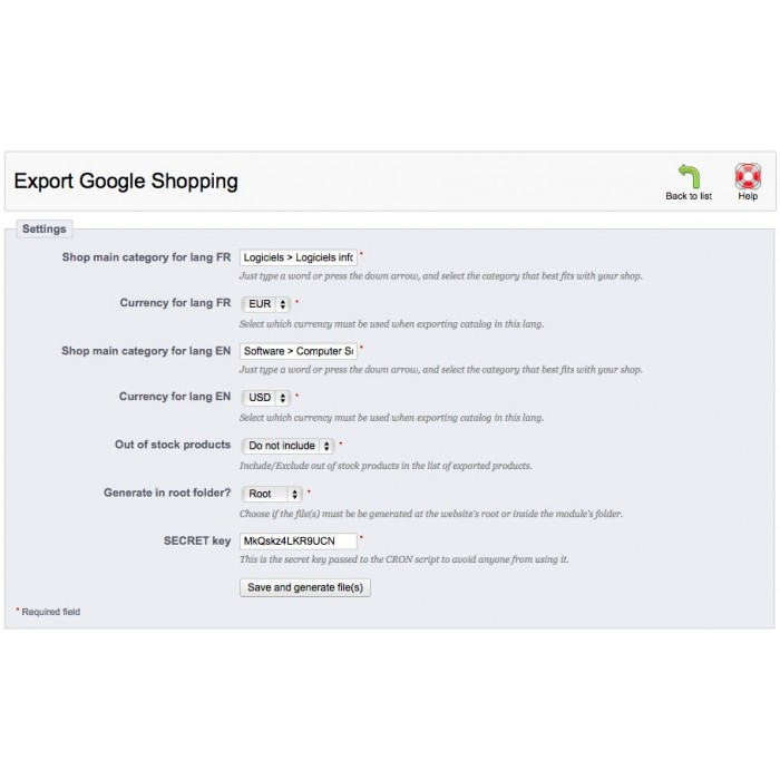 module - Comparatori di prezzi - Export Google Shopping - 1