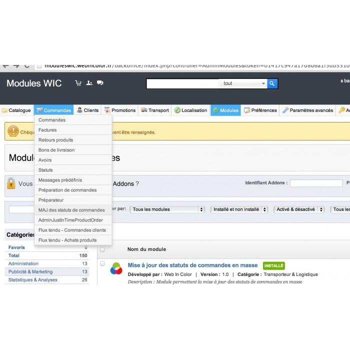 module - Edition rapide & Edition de masse - Mise à jours des statuts de commandes en masse - 9