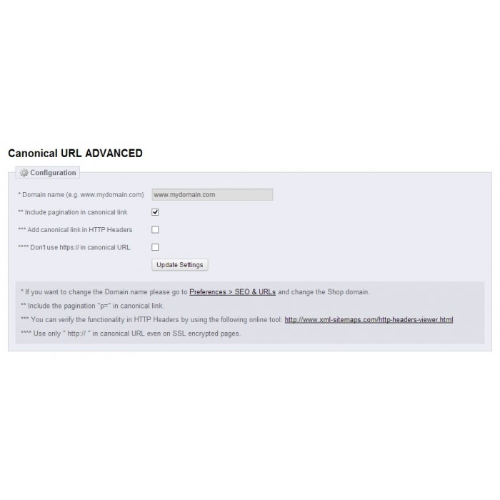 module - URL & Omleidingen - Canonical URL ADVANCED - 4