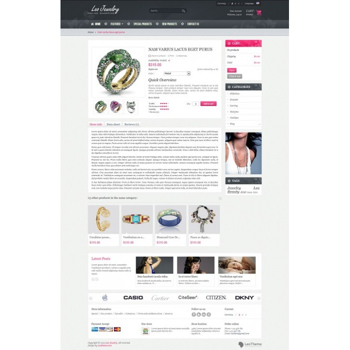 theme - Bellezza & Gioielli - Leo Jewelry - 5