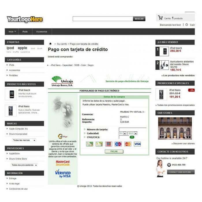 module - Pago con Tarjeta o Carteras digitales - TPV Virtual Unicaja - 2
