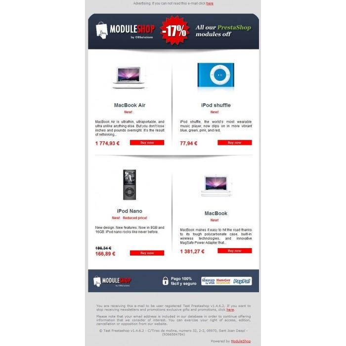module - Newsletter y SMS - Newsletter Maker Pro - 1