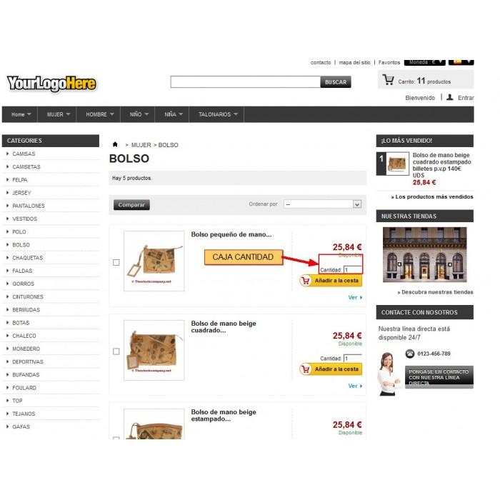 module - Pегистрации и оформления заказа - Product List Quantity Box - 4