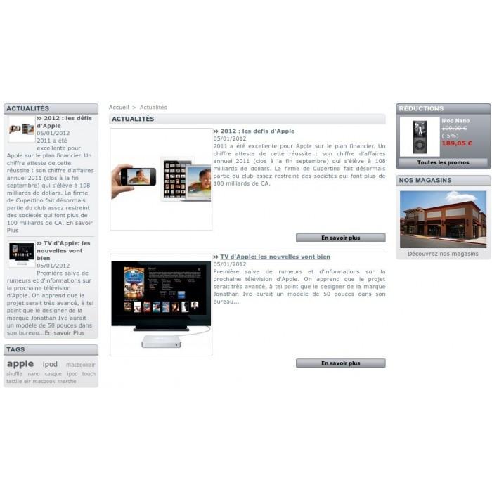 module - Fonctionnalités Front office - Actualités Bloc Plus - 2