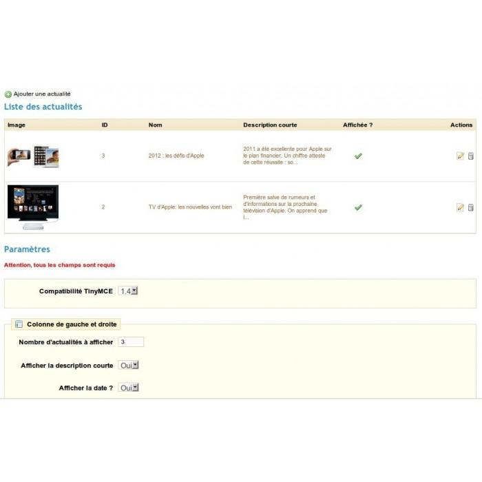 module - Fonctionnalités Front office - Actualités Bloc Plus - 4