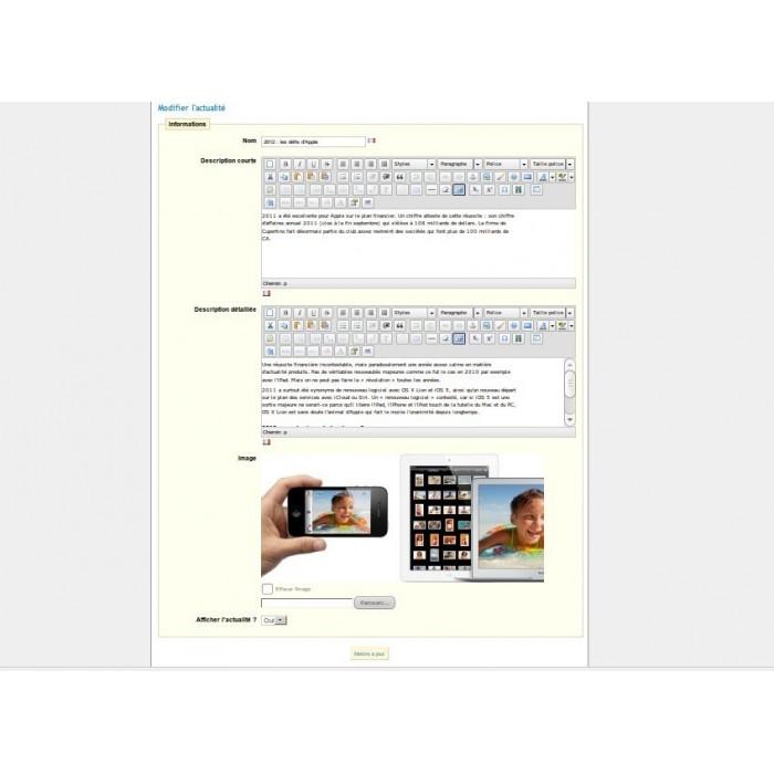 module - Fonctionnalités Front office - Actualités Bloc Plus - 5