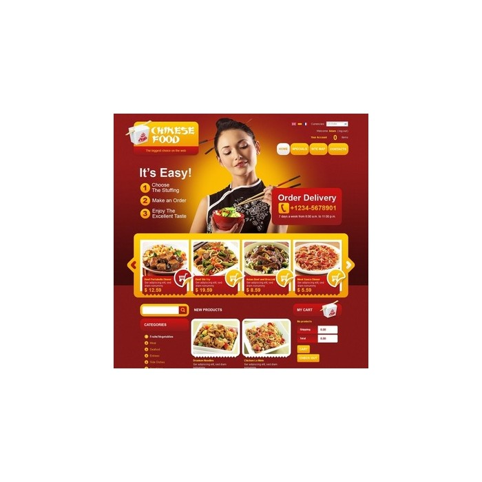 theme - Alimentation & Restauration - Chinese Food - 5