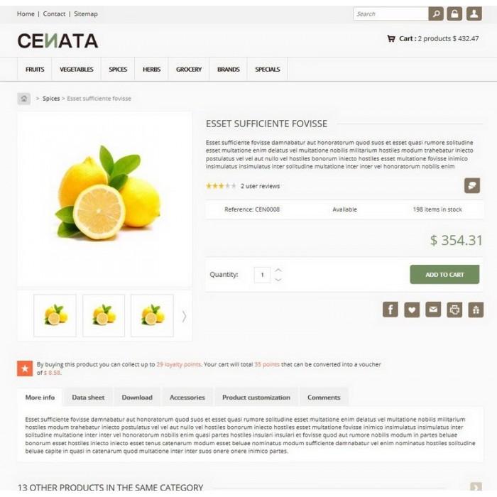 theme - Продовольствие и рестораны - Cenata new - 3
