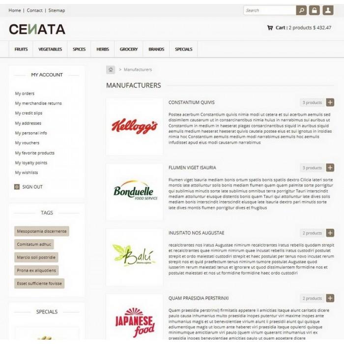 theme - Продовольствие и рестораны - Cenata new - 5