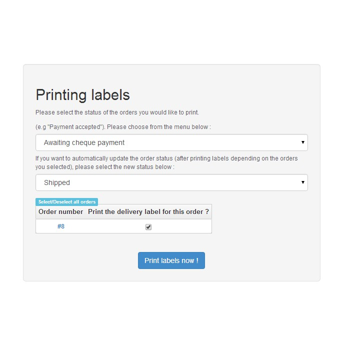 module - Preparation & Shipping - Print Labels Pro - 5