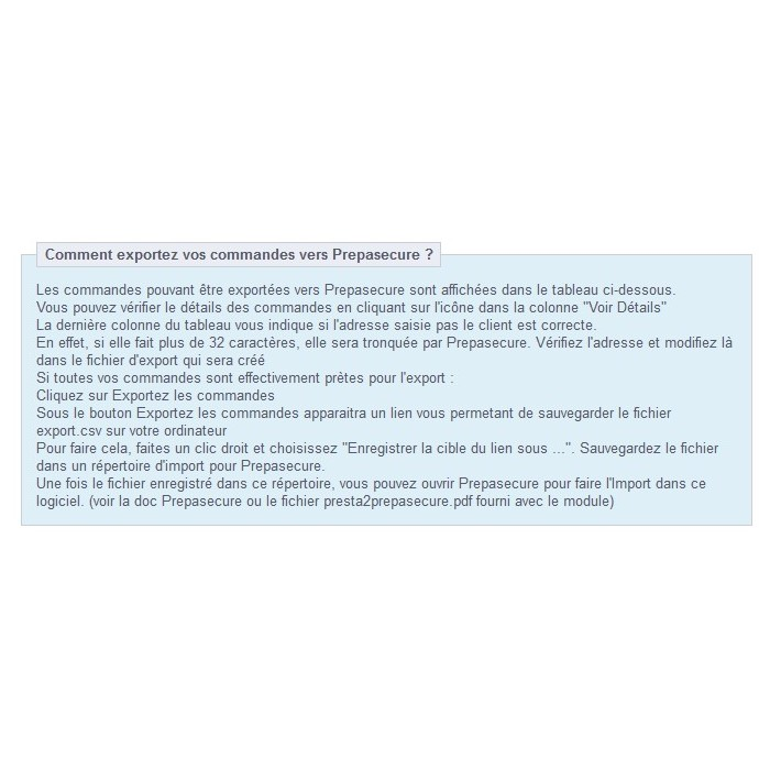 module - Préparation & Expédition - Presta2Prepasecure - 2