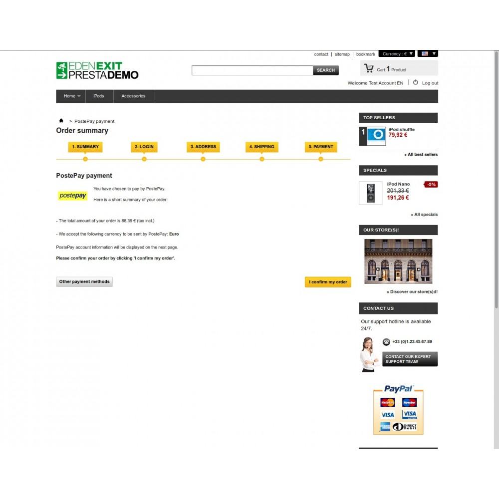 module - Pagamento Anticipato - PostePay - 4