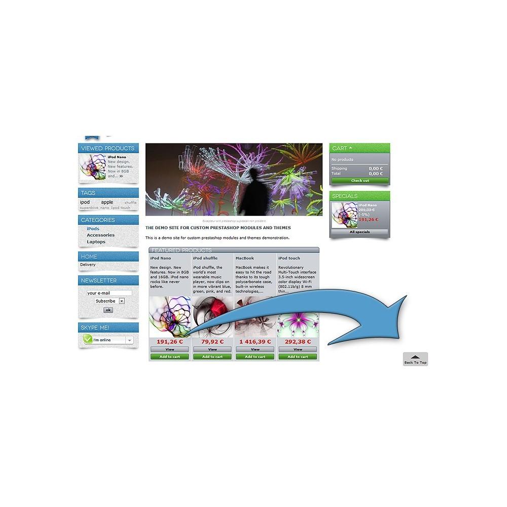 module - Herramientas de navegación - ToTop - desplazamiento volver la arriba ( scroll top ) - 2