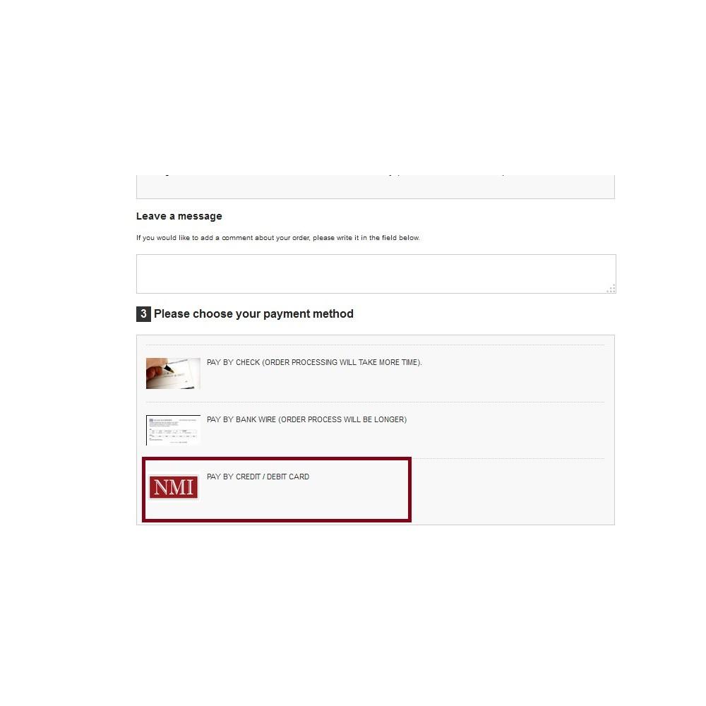 module - Pago con Tarjeta o Carteras digitales - NMI Payment Gateway - 1