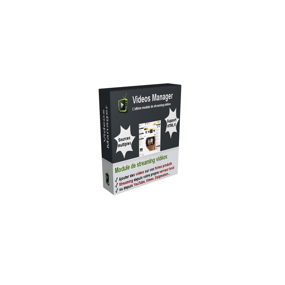 module - Vidéo & Musique - Videos Manager - Le module de streaming vidéos - 1