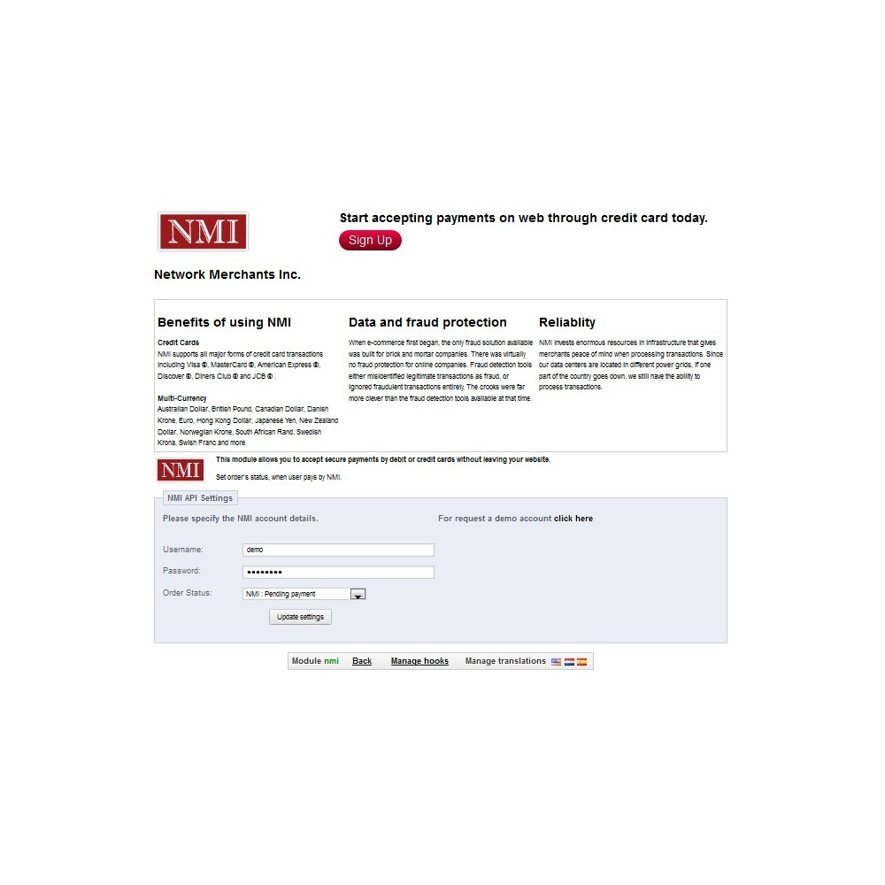 module - Paiement par Carte ou Wallet - NMI Payment Gateway - 3