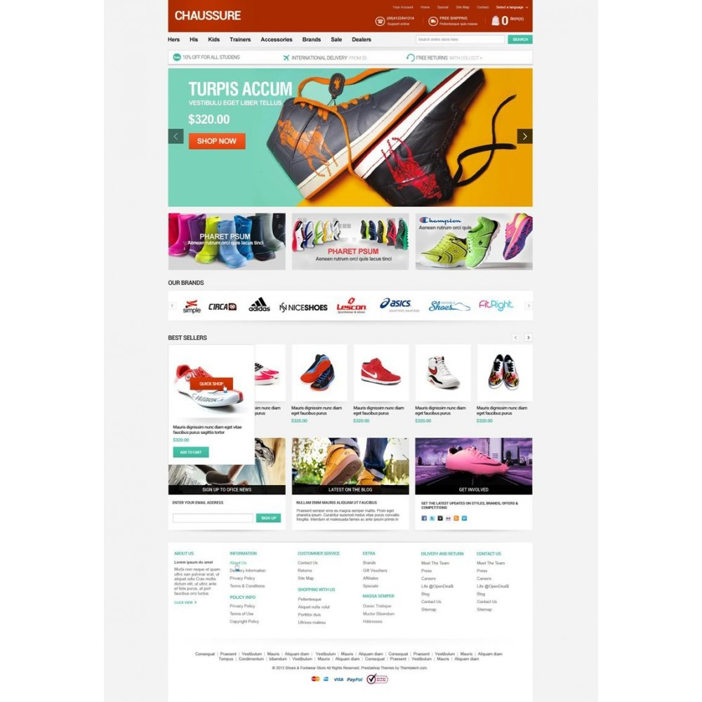 theme - Moda & Calzature - Shoes Store Responsive PrestaShop Theme - ET Chaussure - 3