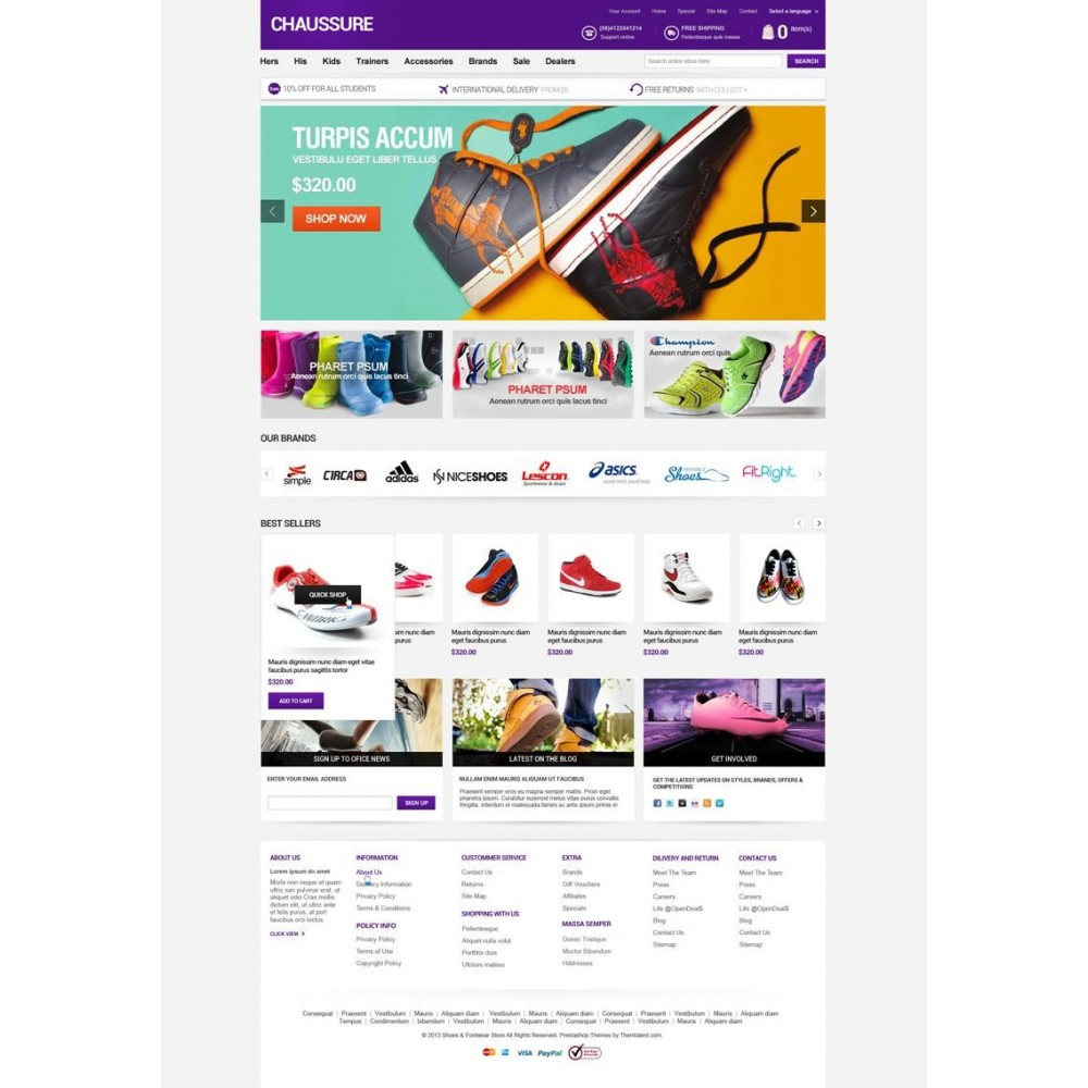 theme - Мода и обувь - Shoes Store Responsive PrestaShop Theme - ET Chaussure - 5
