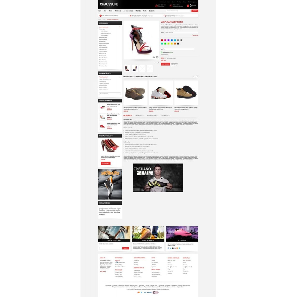 theme - Moda & Calzature - Shoes Store Responsive PrestaShop Theme - ET Chaussure - 8