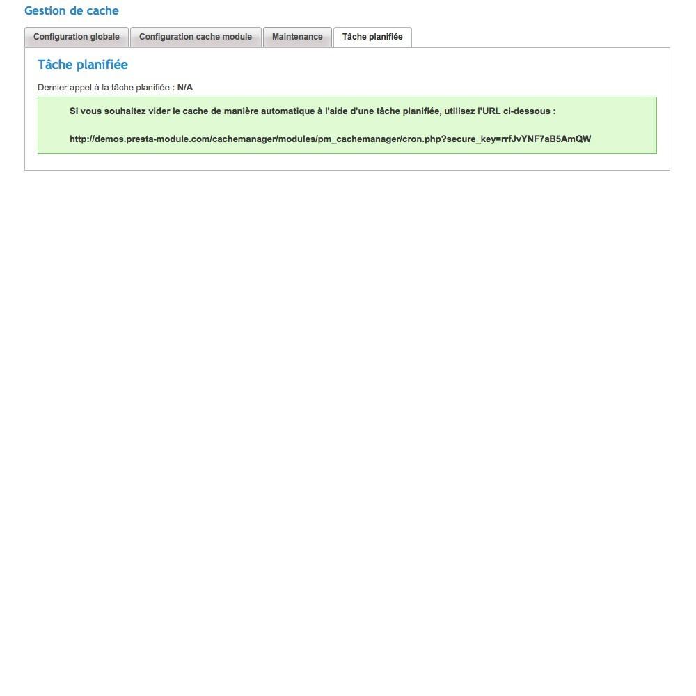 module - Performance du Site - Cache Manager - Réduit le temps de chargement des pages - 6