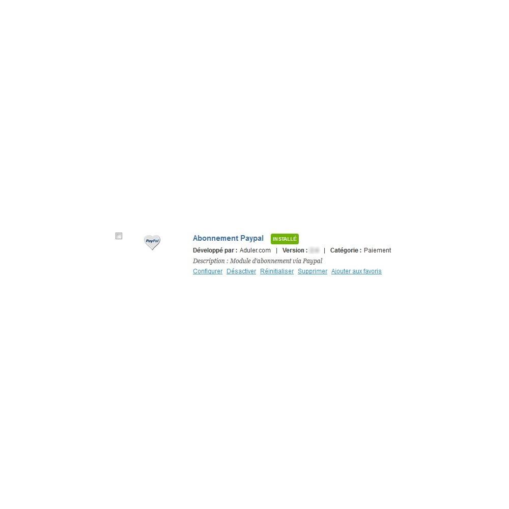 module - Paiement récurrent (abonnement) - Abonnements Paypal - 1