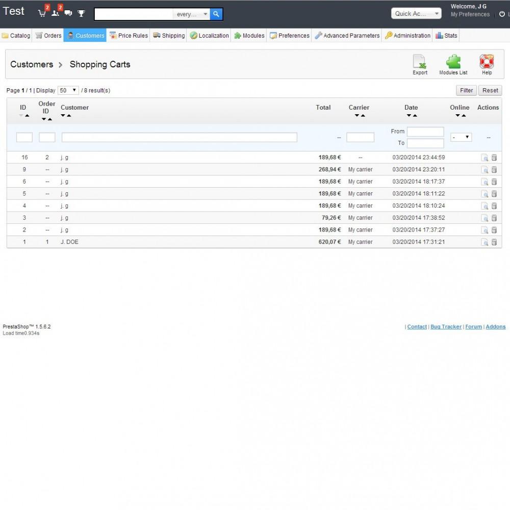 module - Gerenciamento de pedidos - Delete orders - 10