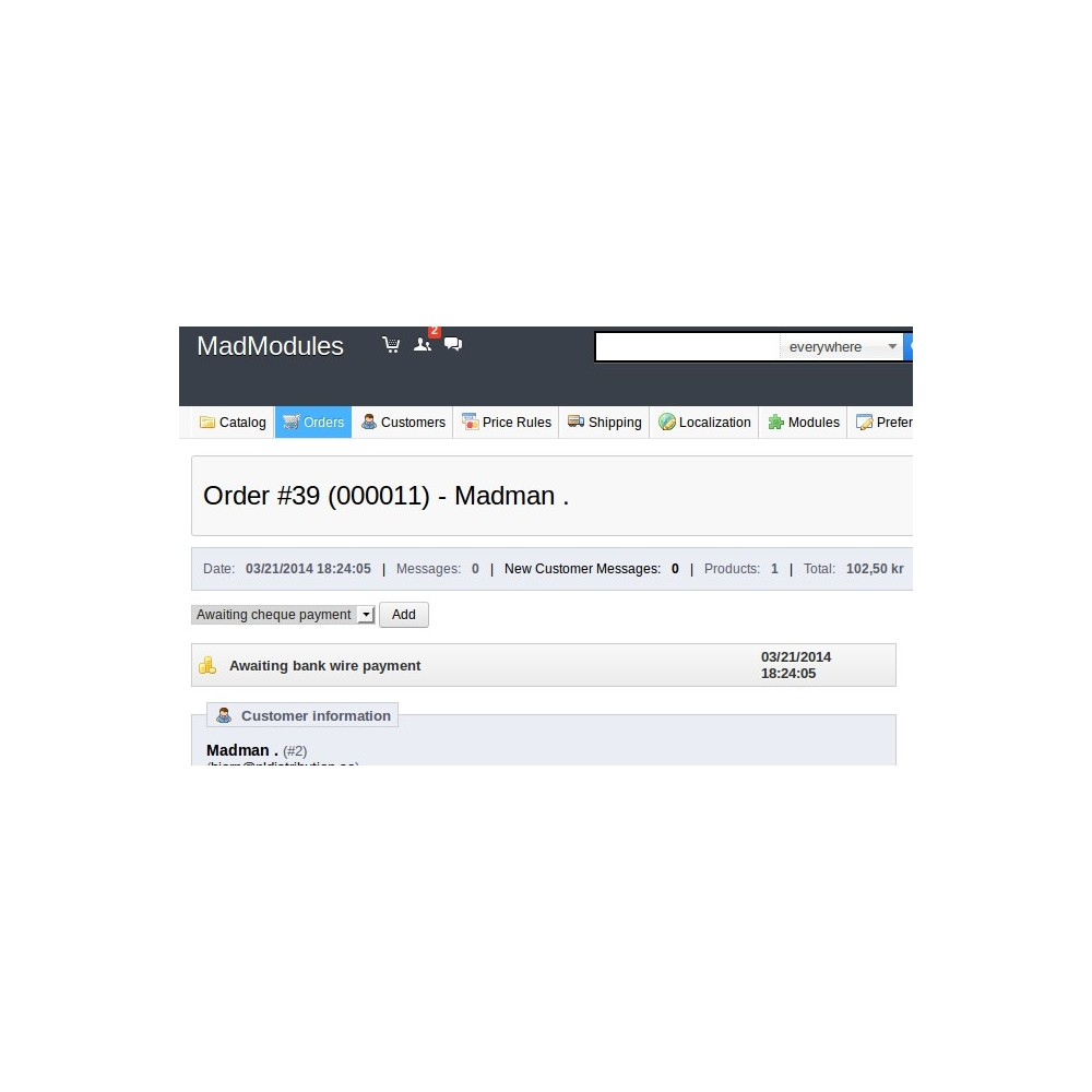 module - Order Management - Order Reference Number - 4