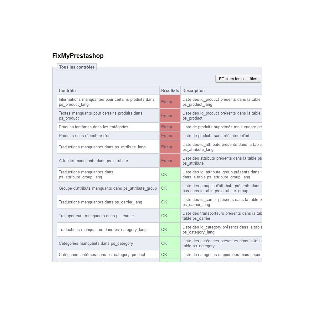 module - Outils d'administration - FixMyPrestashop - 2