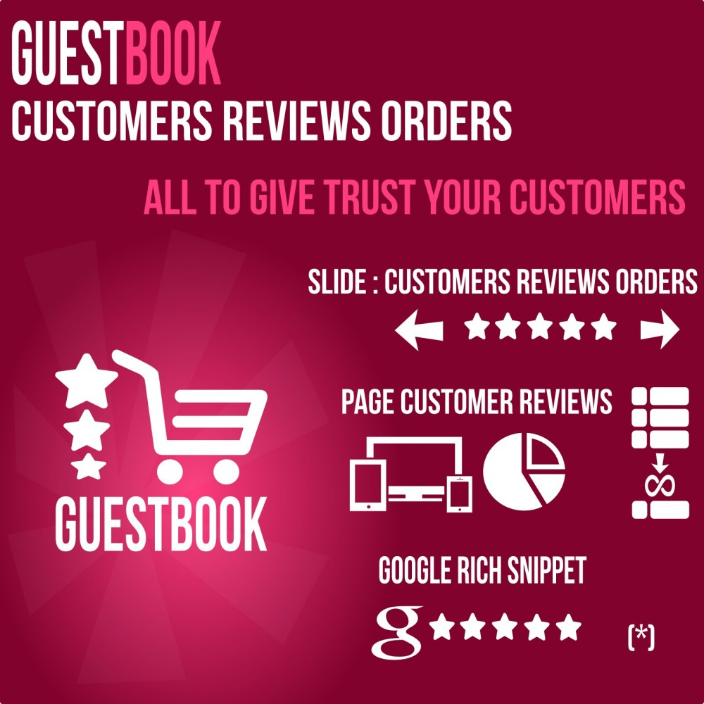 module - Kundenbewertungen - Guestbook orders customers reviews - 1