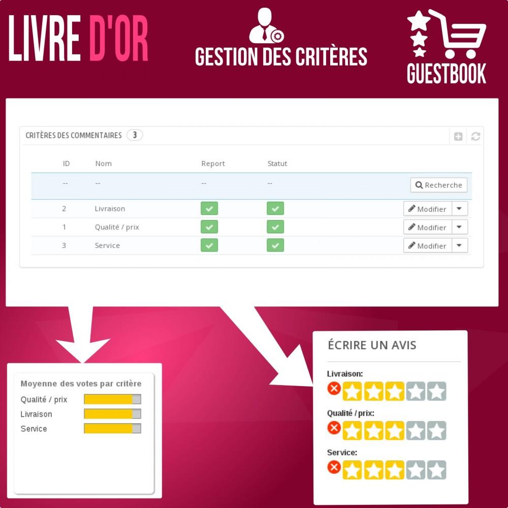 module - Avis clients - Livre d or : avis des commandes, rassurez vos clients! - 6