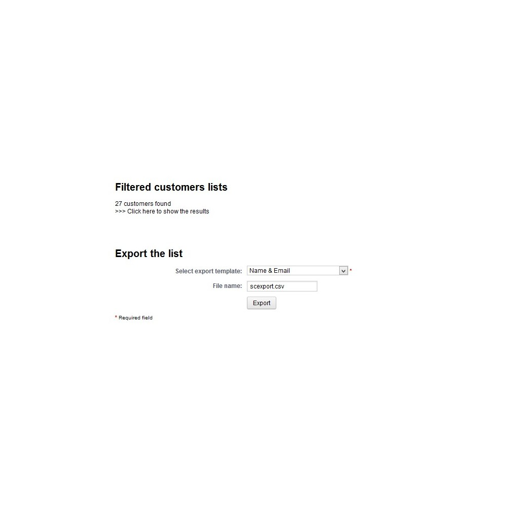 module - Data Import & Export - Customer Export Pro - 4