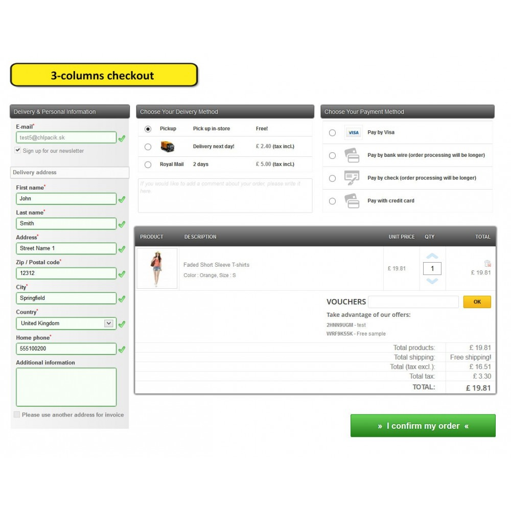 module - Processus rapide de commande - One page checkout for Prestashop - 8