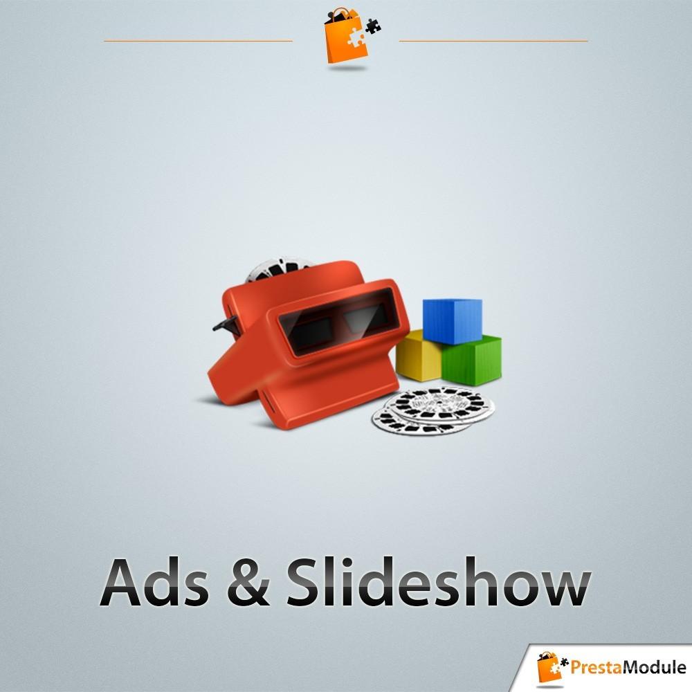 module - Sliders & Galeries - Ads & Slideshow, des blocs et diaporamas sur vos pages - 1