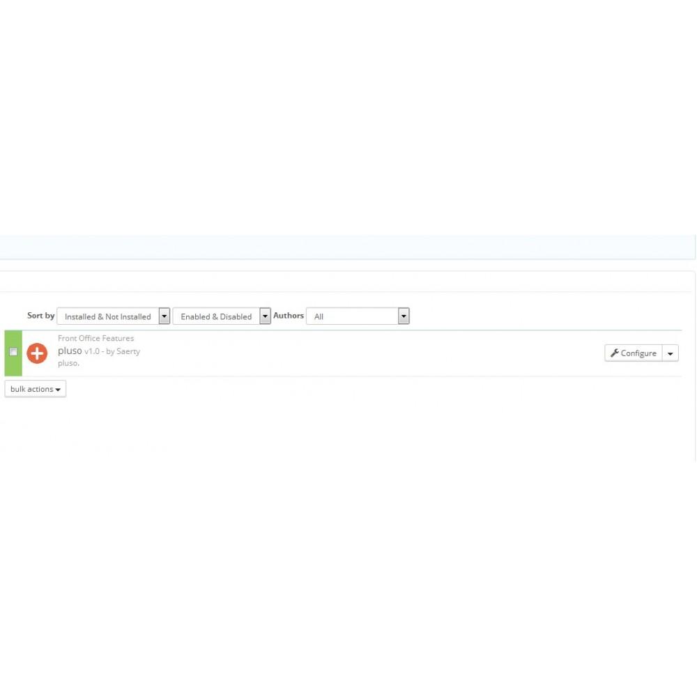 module - Teilen & Kommentieren - Pluso - share button - 3