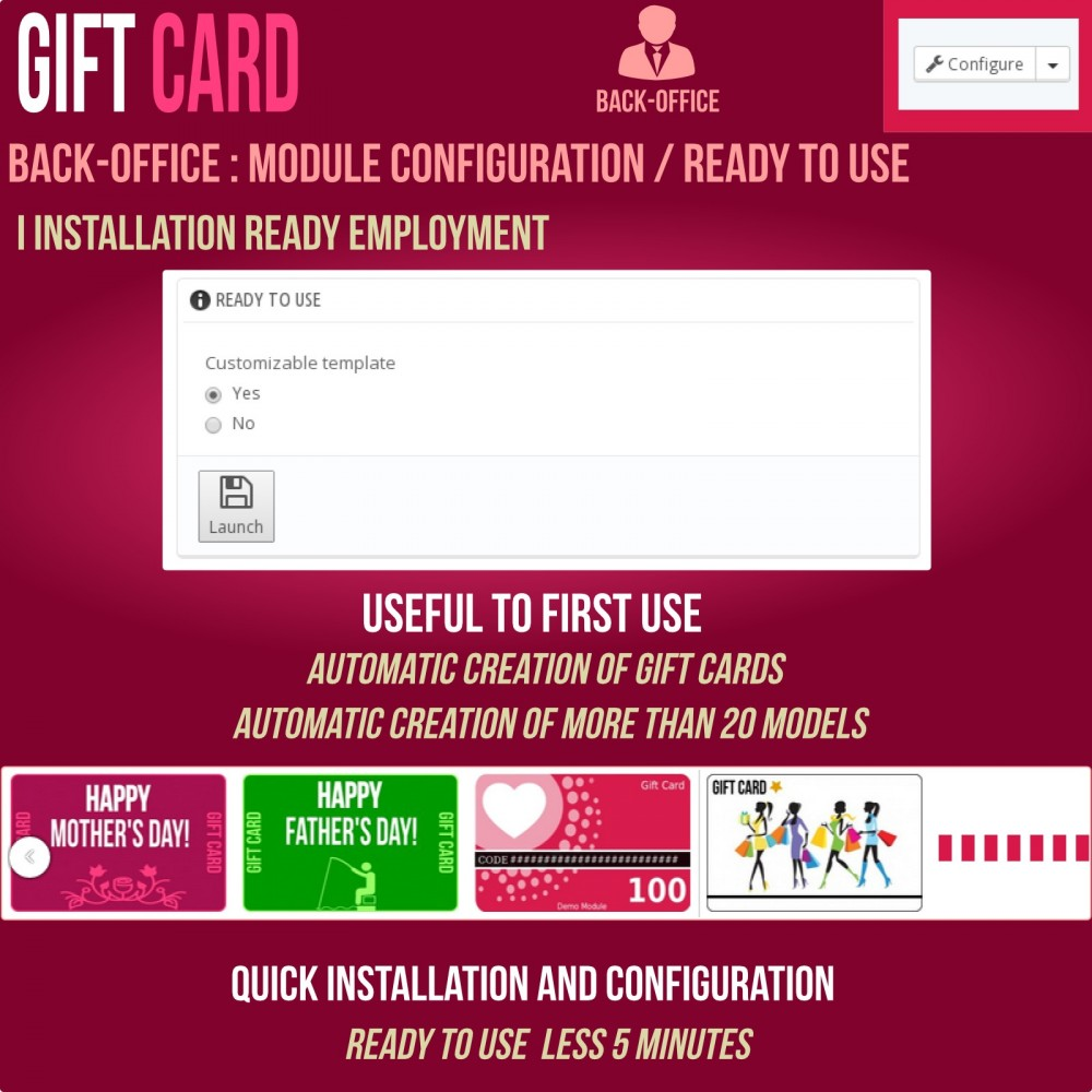 module - Whishlist & Gift Card - Gift Card - Advanced solution - 17