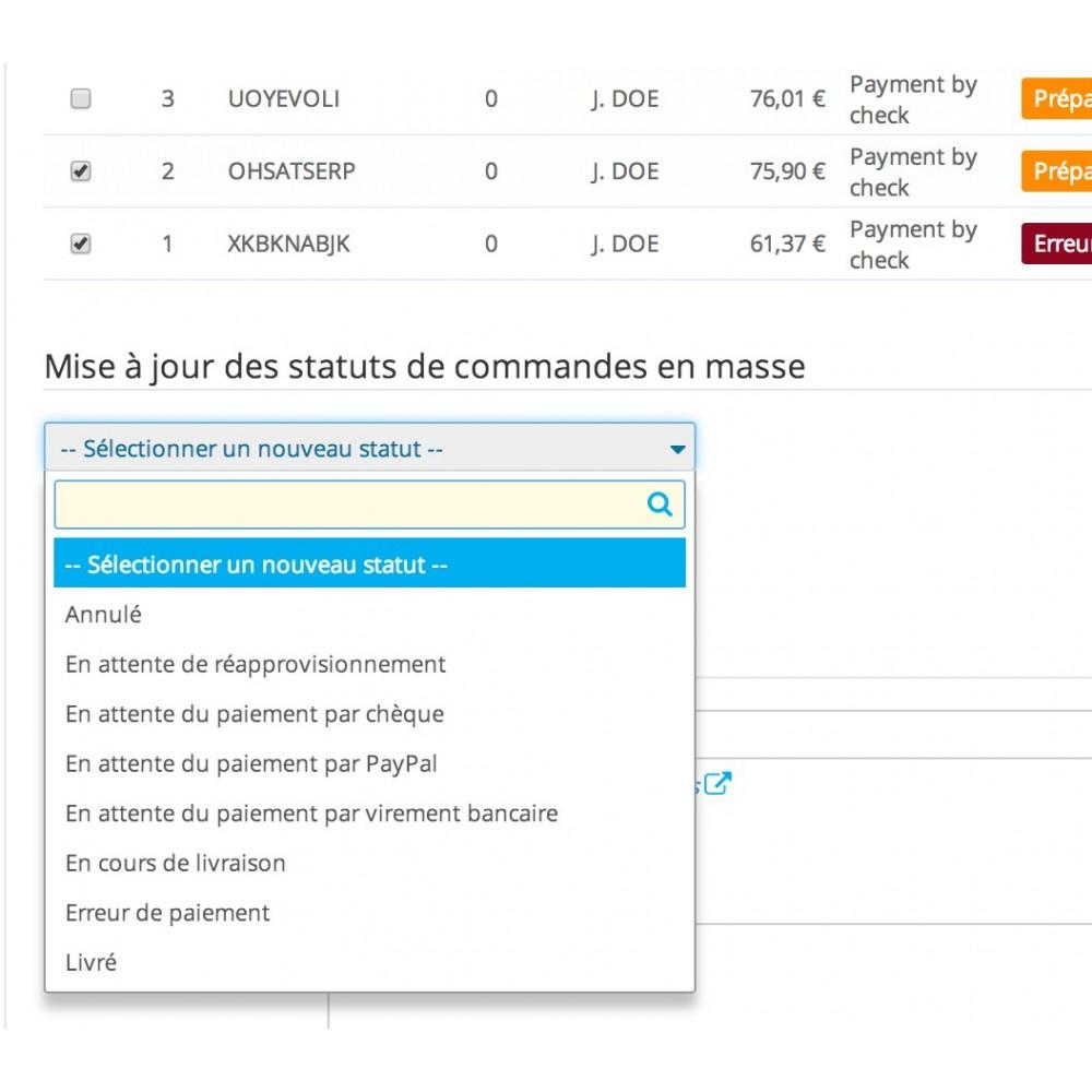 module - Edition rapide & Edition de masse - Mise à jours des statuts de commandes en masse - 7
